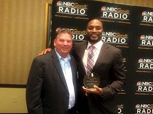 Kevin with former Giant and NBC Sports Radio's Amani Toomer