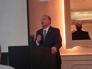 "Ocean County Prosecutor Joseph D. Coronato accepts the ""Prosecutor of the Year"" award"
