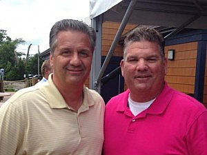 Kentucky coach John Callipari with Kevin Williams at the Water Street Grille in Toms River