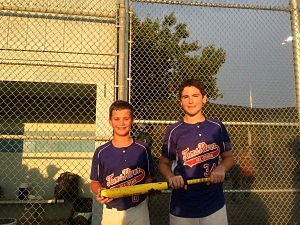 Toms River's Connor Cino (left) and Christain Wood
