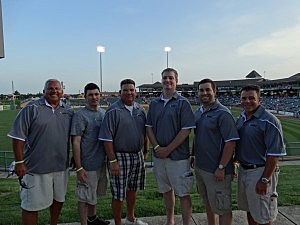 The Shore Sports Network crew at the All-Shore Gridiron Classic welcome picnic at FirstEnergy Park