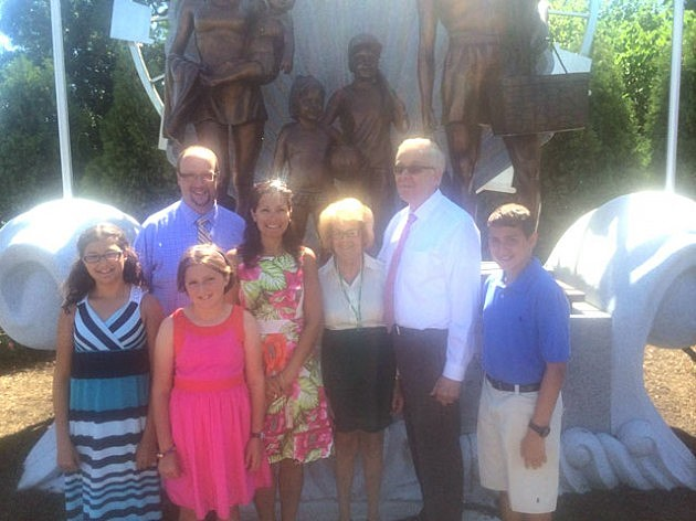 The Grunin Family at the unveiling of the Welcome to Ocean County monument