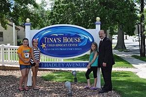 Jackson Girl Scouts Millie, Lauren and Tina (L-R) with Ocean County Prosecutor Joseph Coronato (OCPO)