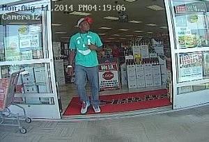 Credit Card Theft Suspect Leaving Spirits Unlimited (Toms River Police Dept.)