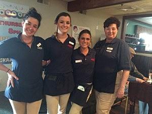 Crabs Claw waitresses (L-R) Sarah, Kristen, Rachel & Cindy