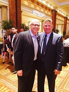 Kevin Williams with Greg Janoff, New Jersey Regional Vice President for Townsquare Media, at the NJ Broadcasters Association convention