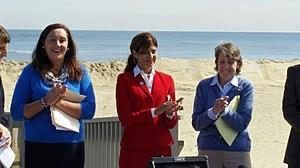 Assemblywoman Caroline Casgrande, State Senator Jennifer Beck and Cindy Zipf, Executive Director, Clean Ocean Action (Vin Ebenau, Townsquare Media)