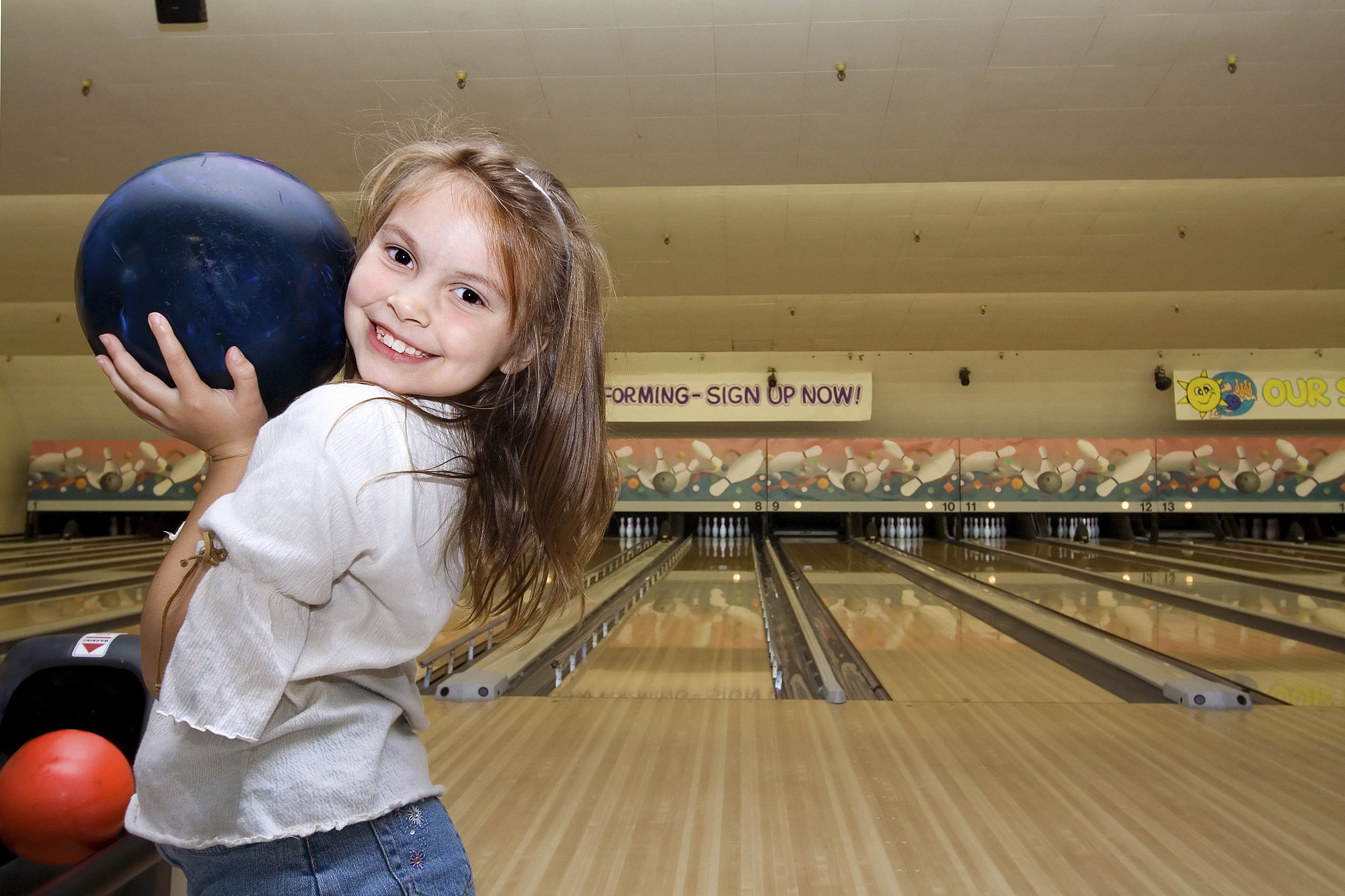 Girl Bowling-Horizontal