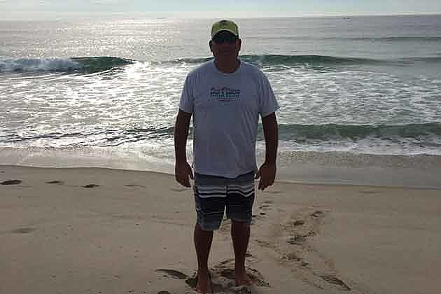 "Kevin Williams in his ""happy place"" at the beach in Seaside Park"