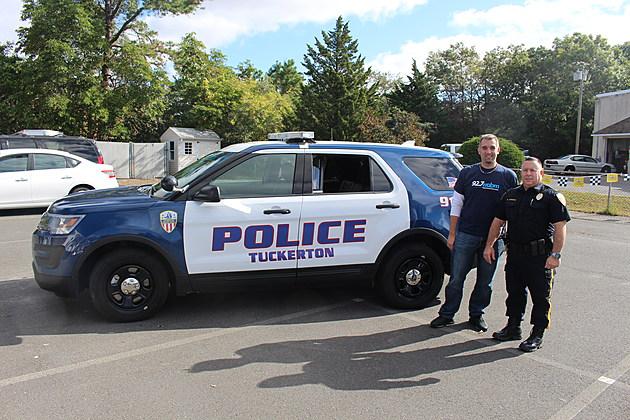 Justin Louis with Tuckerton Police Chief Michael Caputo (Townsquare Media)