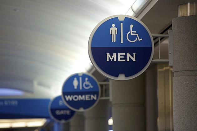 Airport Signs: Men's Bathroom Foreground