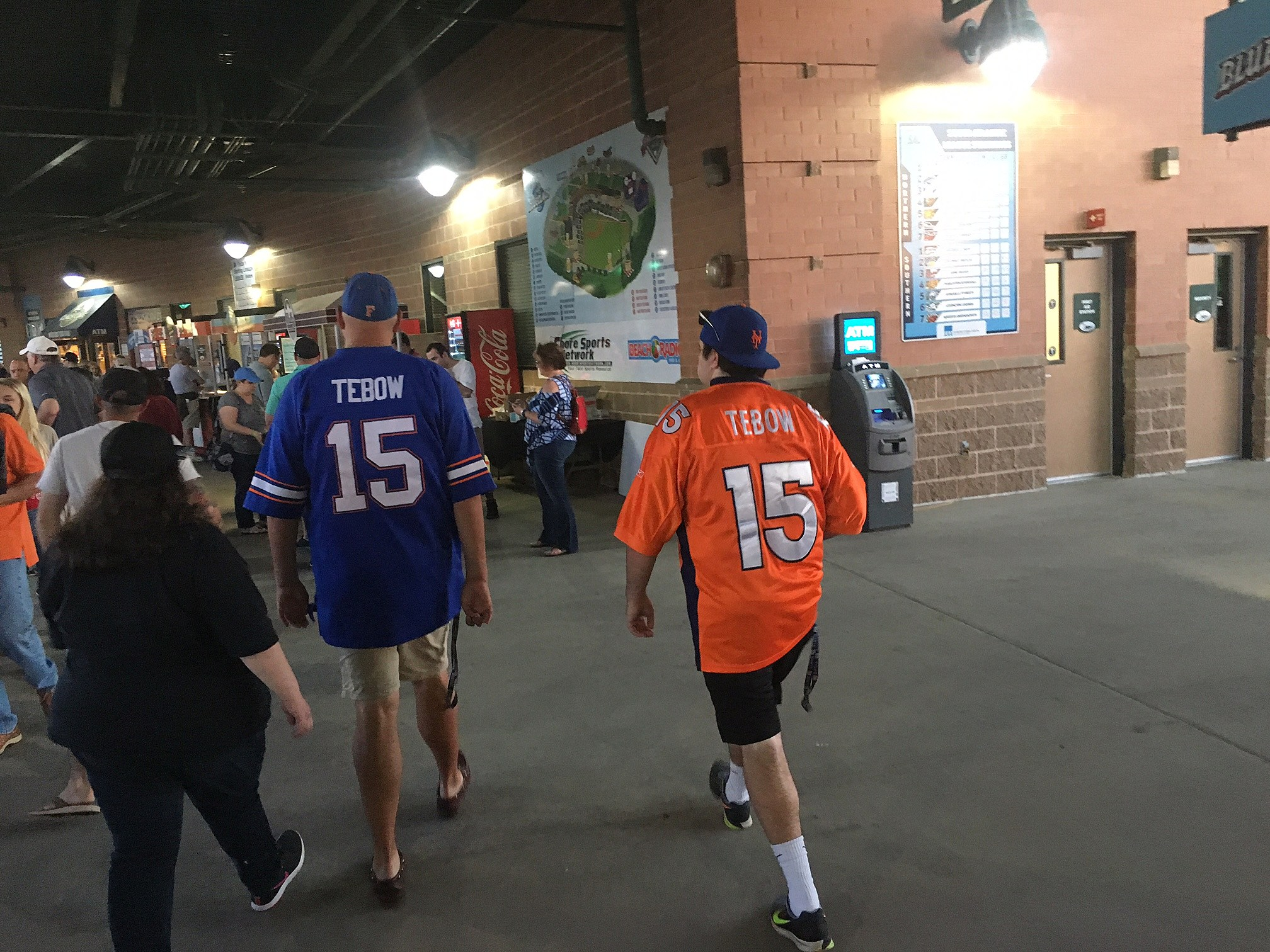 Tim Tebow fans at FirstEnergy Park, home of the Lakewood BlueClaws