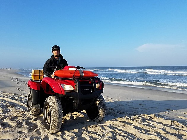 A members of the Harvey Cedars Beach Patrol after hours unit