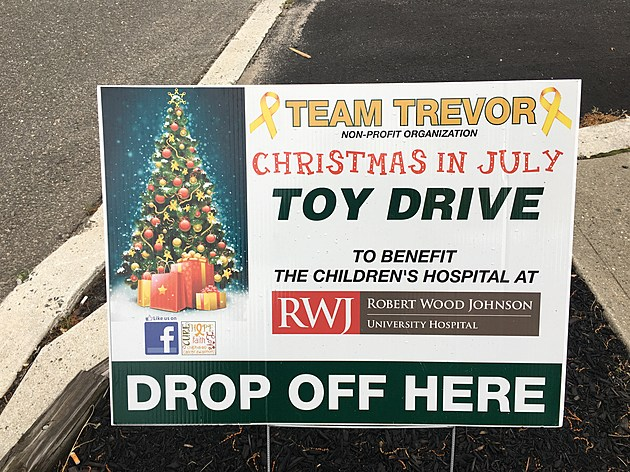 Toy Drive Sign at Bayville Auto Care