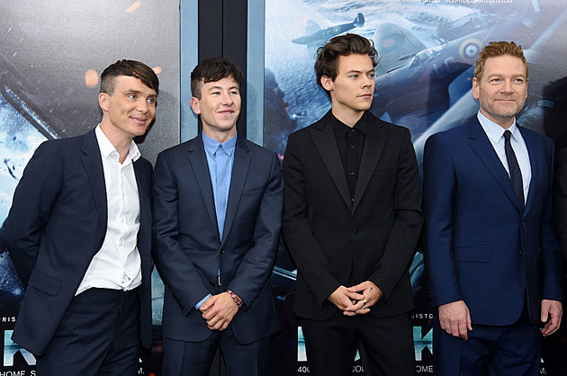 "Cillian Murphy, Barry Keoghan, Harry Styles and Kenneth Branagh attend the New York premiere of the movie ""Dunkirk."""
